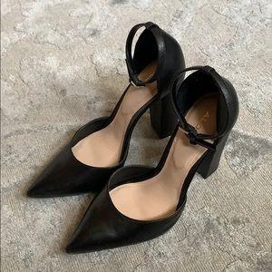 Aldo Black Pointy Heels
